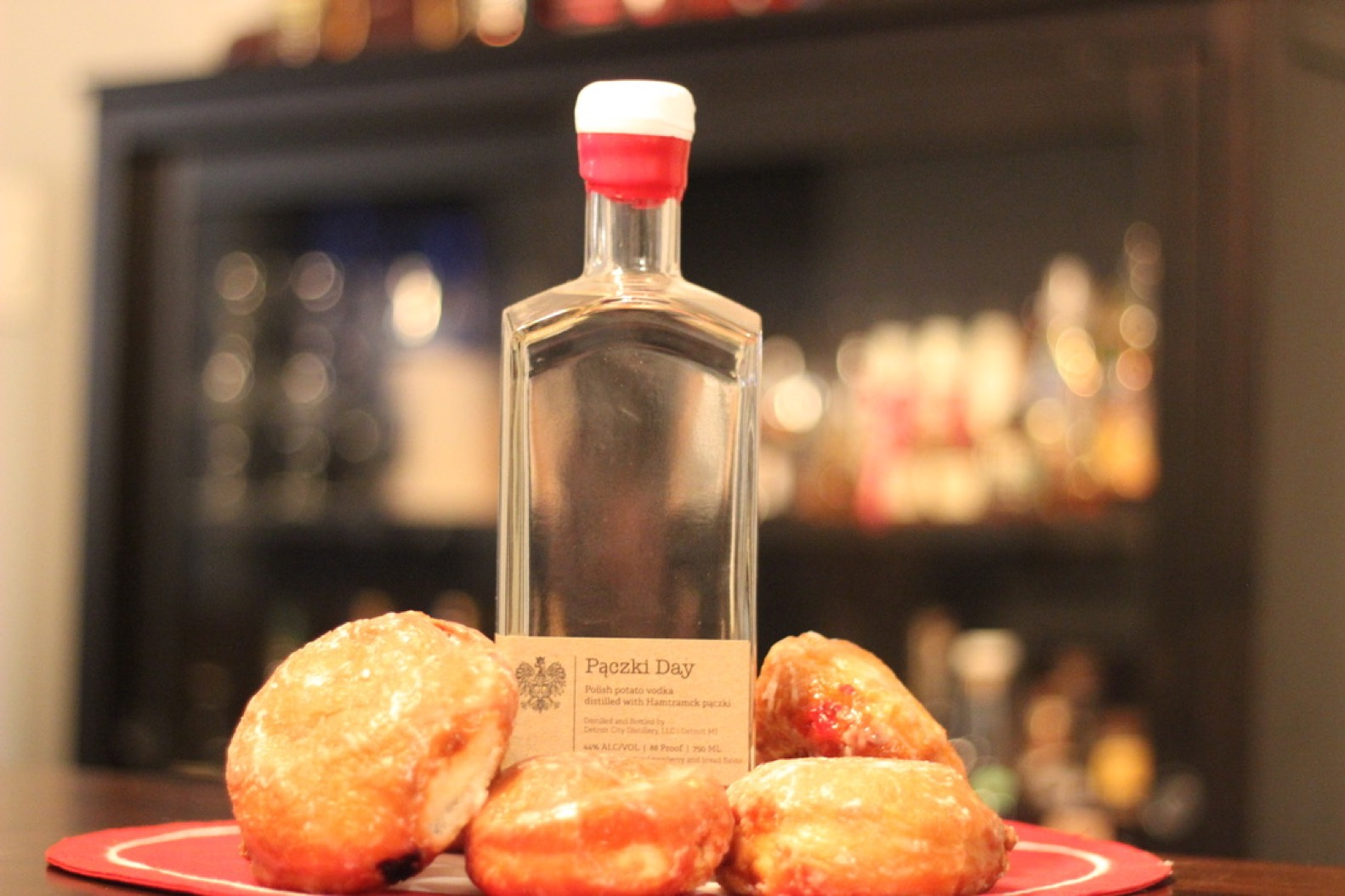 Bottle of Detroit City Distillery's Paczki Vodka
