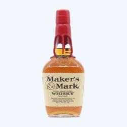 A bottle of Maker's Mark bourbon.